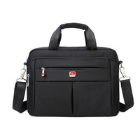 Zhierna Men Business Shoulder Bags Transverse Large Capacity Totes Laptop Bag Oxford Cloth Solid Color Waterproof