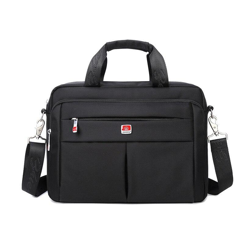 Symbol Der Marke Zhierna Männer Business Schulter Taschen Quer Große Kapazität Totes Laptop Tasche Oxford Tuch Einfarbig Wasserdichte Messenger Taschen Weich Und Rutschhemmend