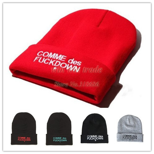 SSUR COMME DES FUCKDOWN sports Beanie hat Basketball Baseball Football beanies cap wool winter knitted hats for man and women