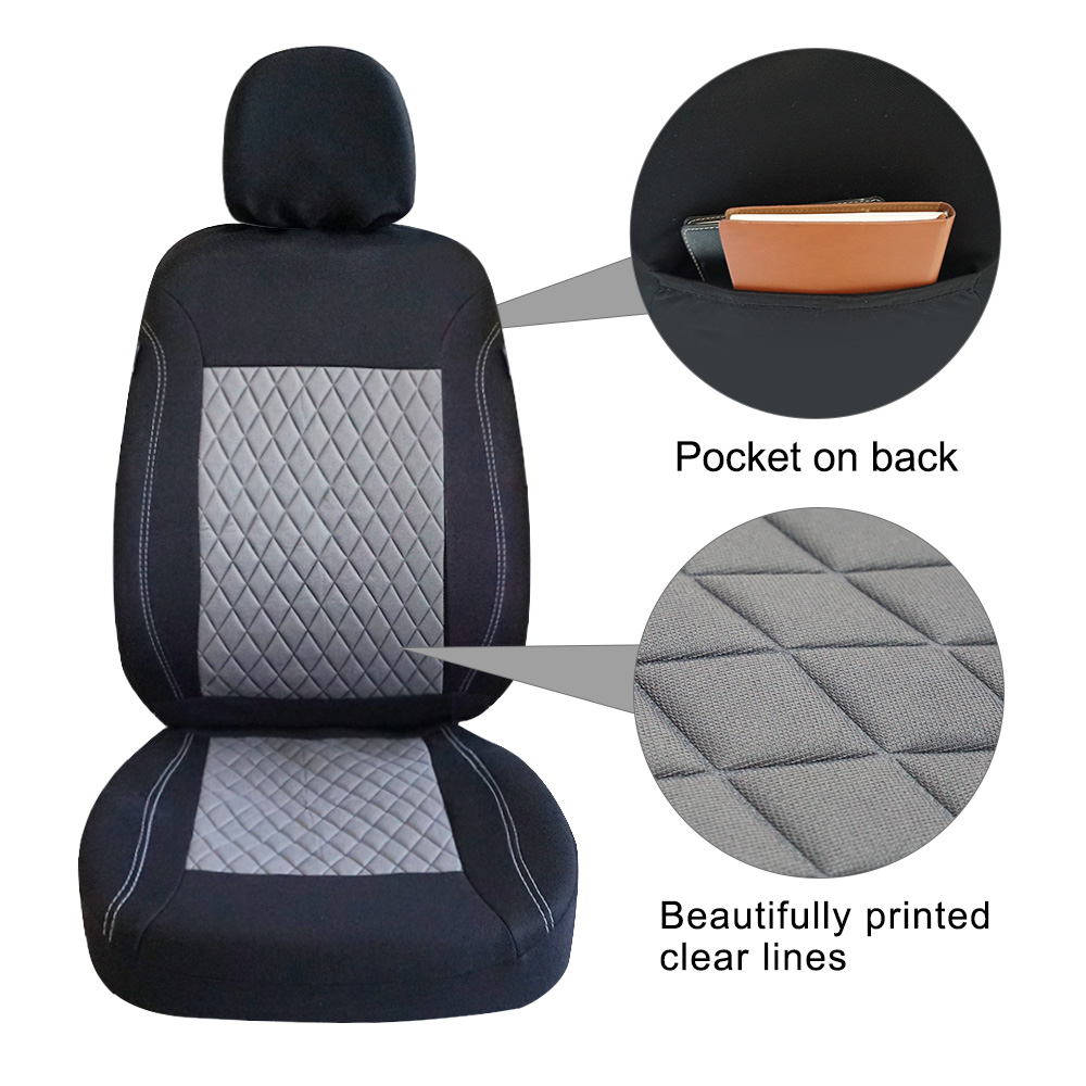 Image 2 - ROWNFUR Polyester Car Seat Cover Universal Fit Most Cars Seat Protector Four Seasons Car Covers For Seat Interior Styling 1 Set-in Automobiles Seat Covers from Automobiles & Motorcycles