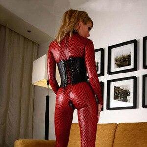 Image 3 - נשים חליפת הלבשה תחתונה סקסית לטקס בגד גוף חשפנית בגדי אופנה בגד גוף ילדה ארוטית ספנדקס Babydoll בתוספת גודל S 4XL
