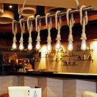 Винтажная чердачная труба веревка подвесной светильник бар кухня ресторан железная труба лампа промышленный рустикальный, Железный Абажу