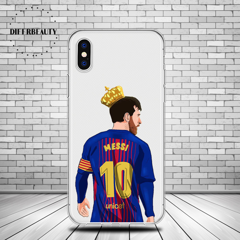 DIFFRBEAUTY Famous Football Soccer Star Lionel Messi Soft Clear TPU Phone Case Cover For iphone 6 6S 7 8Plus 5s SE pogba Coque