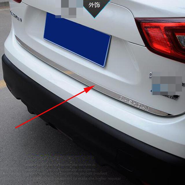 Para Nissan Qashqai j11 2015 2016 Adesivo Porta de Aço Inoxidável porta traseira Porta Traseira guarnição Styling Acessórios Do Carro
