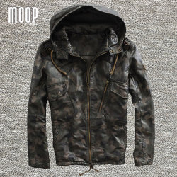 Camouflage genuine leather jackets and coats men 100 cowskin hooded motorcycle jacket coat veste cuir homm.jpg 250x250
