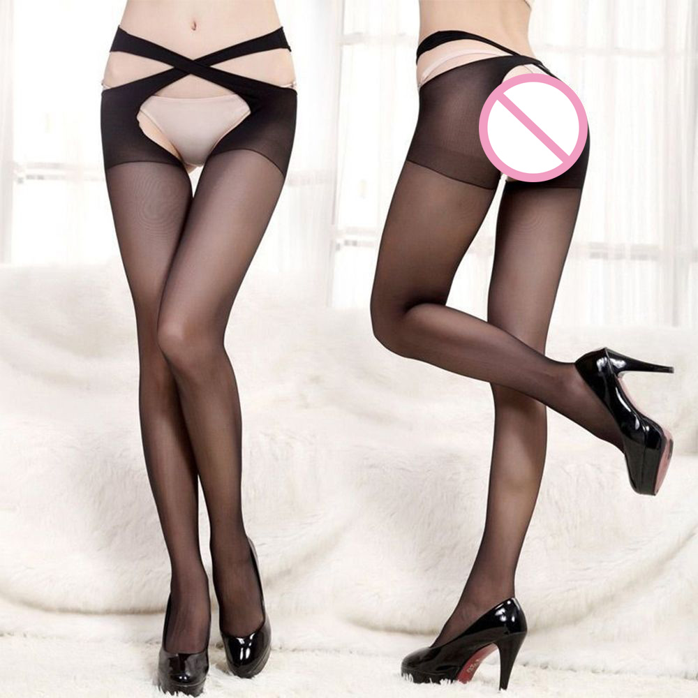 Unique Women Cross Belt Waist Pantyhose  Lingerie  (Without G-string)