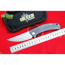 Green thorn JEANS Flipper folding knife m390 steel TC4 Titanium handle outdoor camping hunting pocket kitchen knives EDC tools