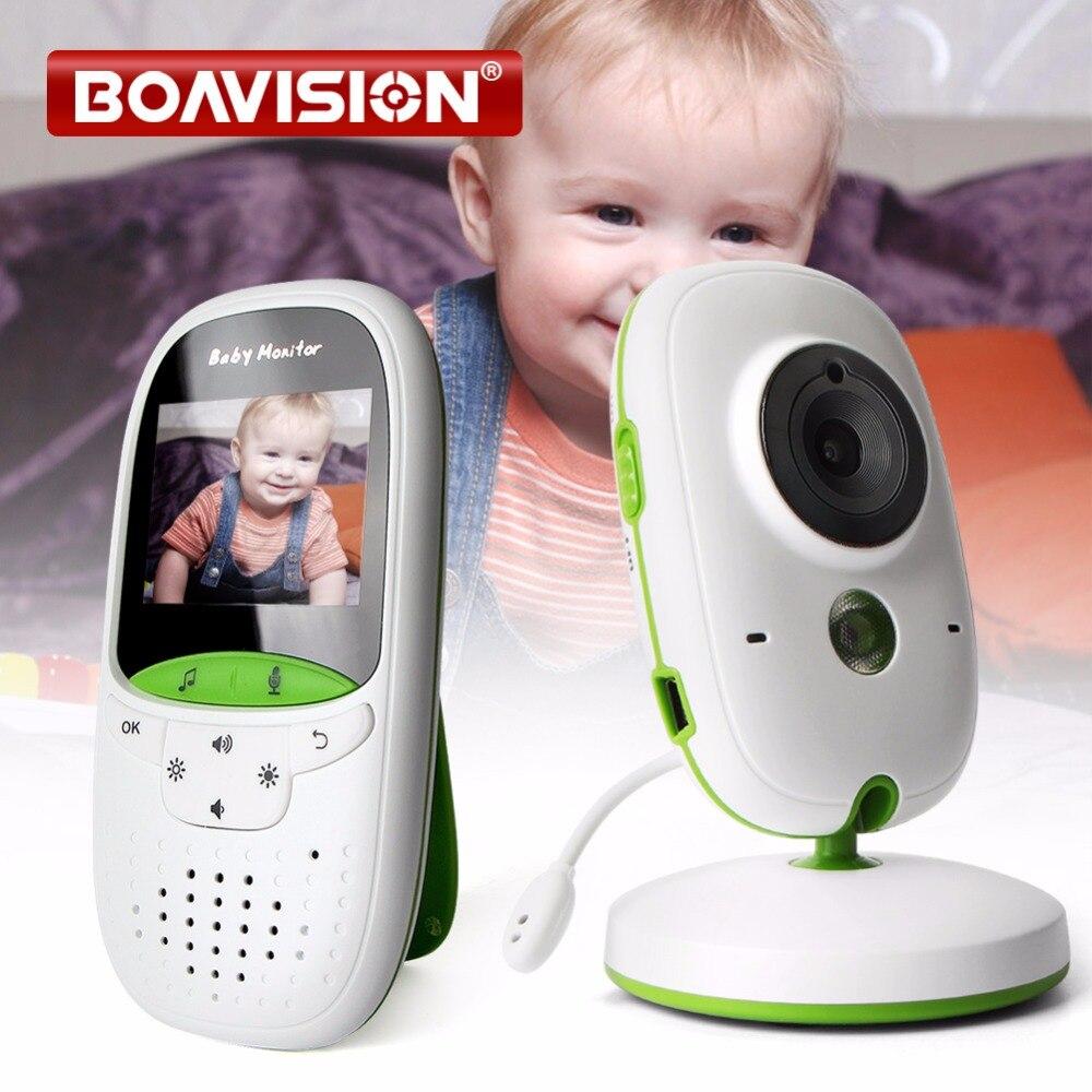 2 0 Inch Wireless Baby Monitor IR Night Vision Temperature Monitor Lullabies Intercom VOX Mode Video