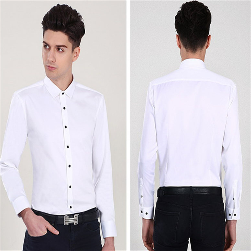 Classic Bamboo Fiber Men Dress Shirt