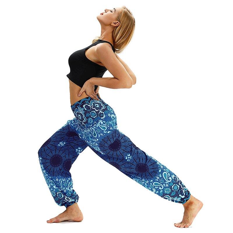 100% Wahr Thailand Nepal Reise Breite Bein Yoga Hosen Mode Digitaldruck Elastische Taille Yoga Hosen Breite Bein Design Beiläufige Lose