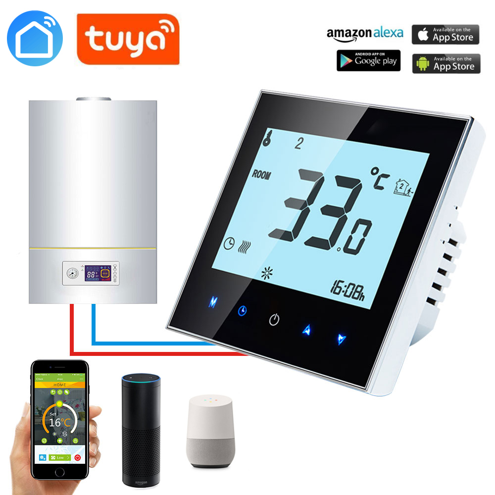 ALEXA ECHO APP Wireless Room Thermostat Wall-hung Gas Boiler Heating Controller Weekly Programmable Remote Control Temperature