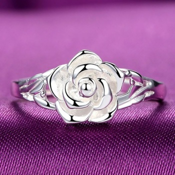 Sterling Silver Rose design Ring  1