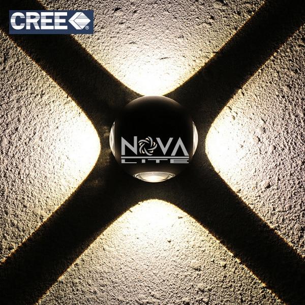 2pcs Exterior Garden Cross Wall Lamp Texture Black IP54 Angle Eye Waterproof LED Facade Lighting 4*2W моторное масло motul garden 4t 10w 30 2 л