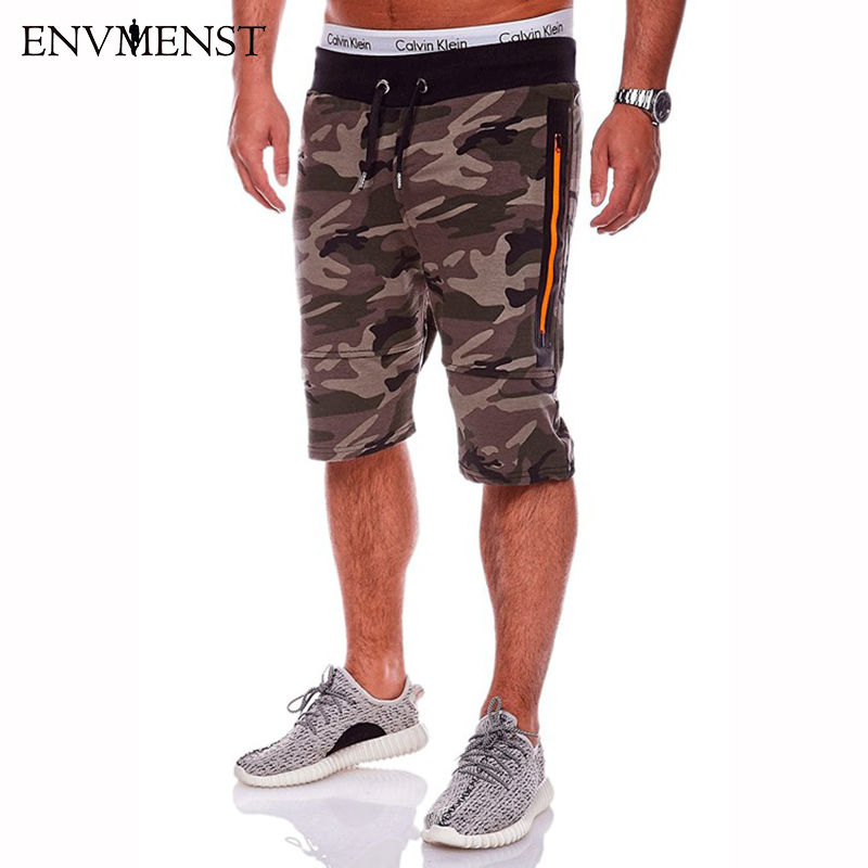 2018 Mens camouflage Shorts Fashion Summer Men Shorts Cotton Casual Mens Military Style Army Tactical Long Cargo Short Male