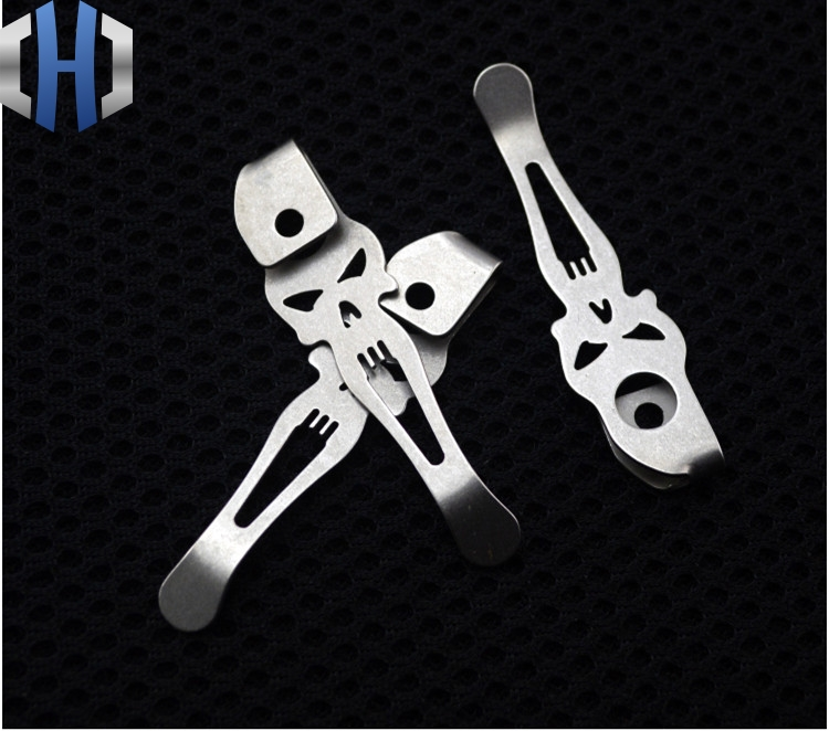 New Strider Design Knife Button Pocket Clip Material TC4 Titanium Alloy Knife Clip Belt Flashlight K Sheath SNG SMF Accessories in Outdoor Tools from Sports Entertainment