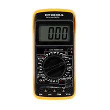 Portable LCD Display Multimeter AC/DC Voltage Current Resistor Capacitor Ammeter Voltmeter Ohm Multi Meter With Test Cable