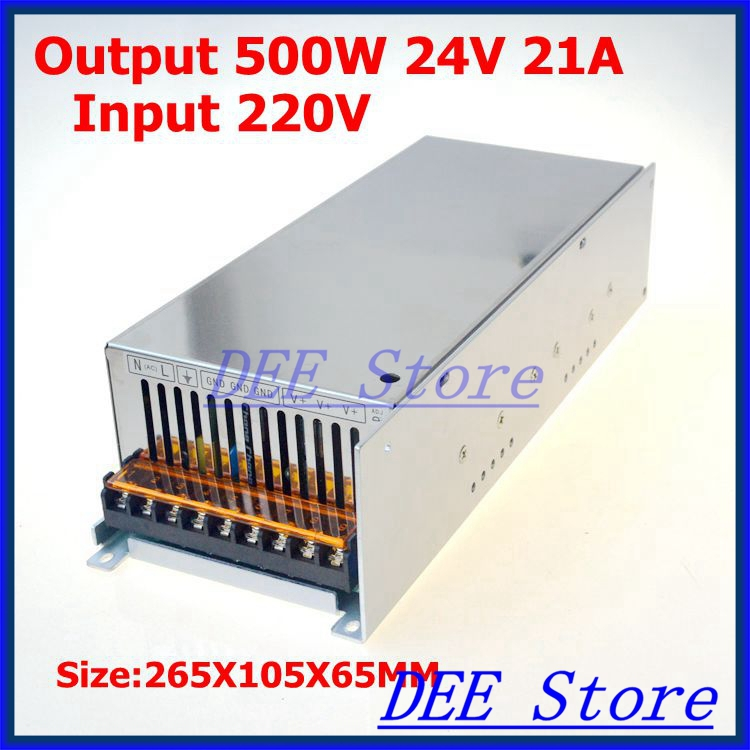 500W 24V(0V~26.4V) 21A Single Output ac 220v to dc 24v Switching power supply unit for LED Strip light 1200w 48v adjustable 220v input single output switching power supply for led strip light ac to dc