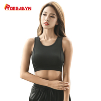 roegadyn Women Absorb Sweat Quick Drying Running Vest Sports Bra Yoga Fitness Vest Workout Tank Top Underwear