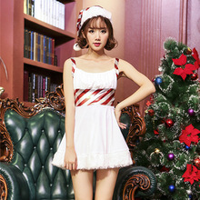Christmas snowman cosplay costume white sling skirt bar nightclub clothing dance party