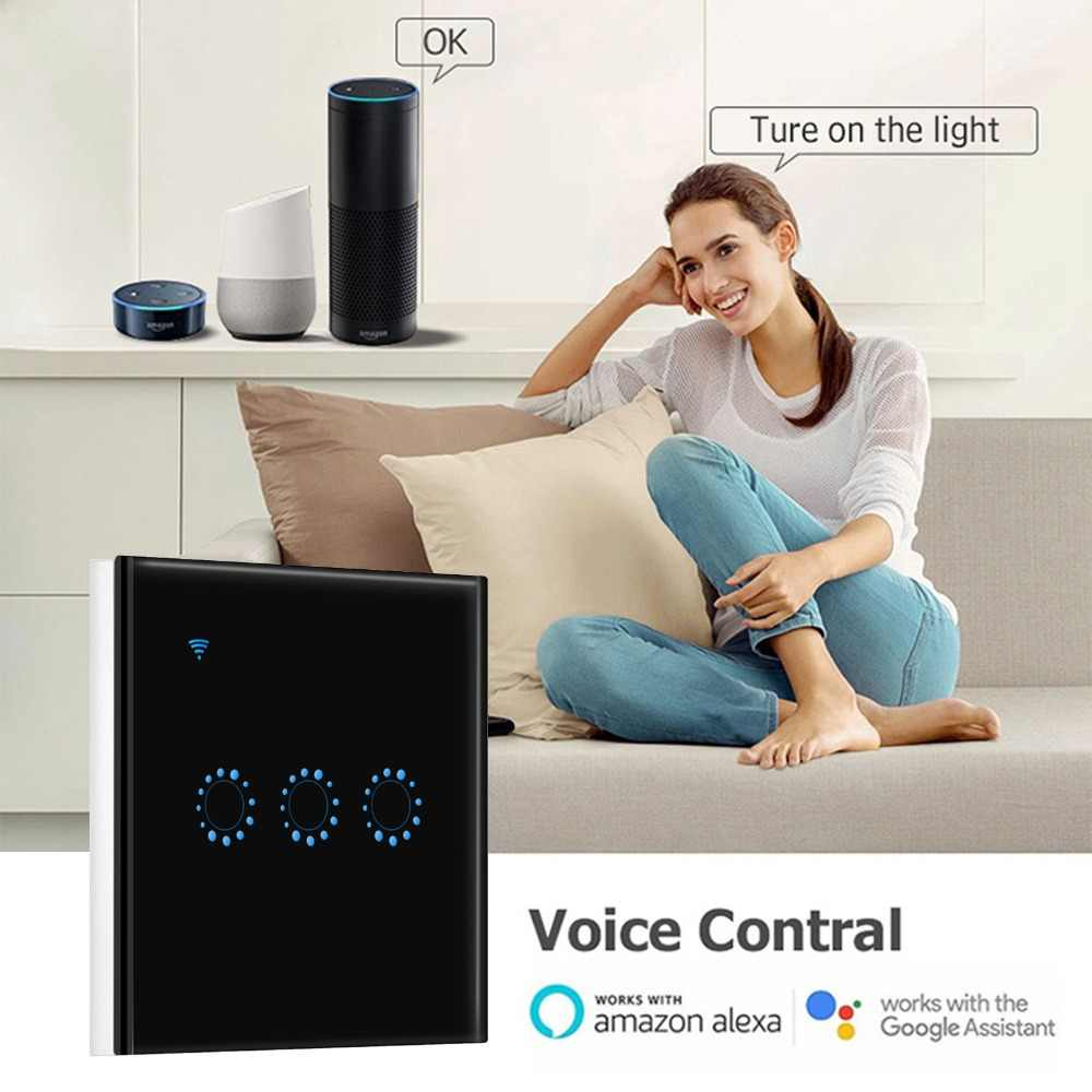 Włącznik światła wi-fi Wifi przełącznik 220V aplikacja ewelink pilot praca z Alexa Google Home inteligentny przełącznik dotykowy Wifi przełącznik do montażu ściennego