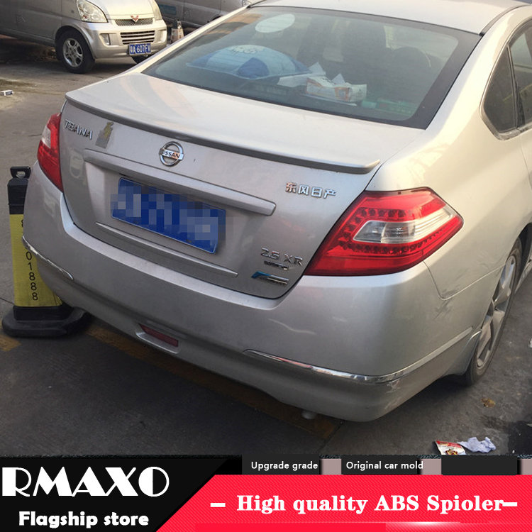 For <font><b>NISSAN</b></font> <font><b>Teana</b></font> Spoiler <font><b>2008</b></font>-2012 Altima High Quality ABS Material Car Rear Wing Primer Color Rear Spoiler image