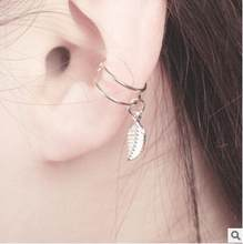 E 64 1 Piece Baru Fashion Clip-On Anting-Anting Perempuan Model Mutiara Imitasi Cross Segitiga Kristal Hollow U- berbentuk Tulang Gesper Invis(China)