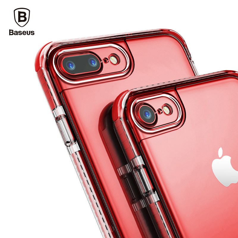 Baseus Armor Case Cover For Apple IPhone 7 Plus Capinhas Luxury TPU TPE PC Back Protection