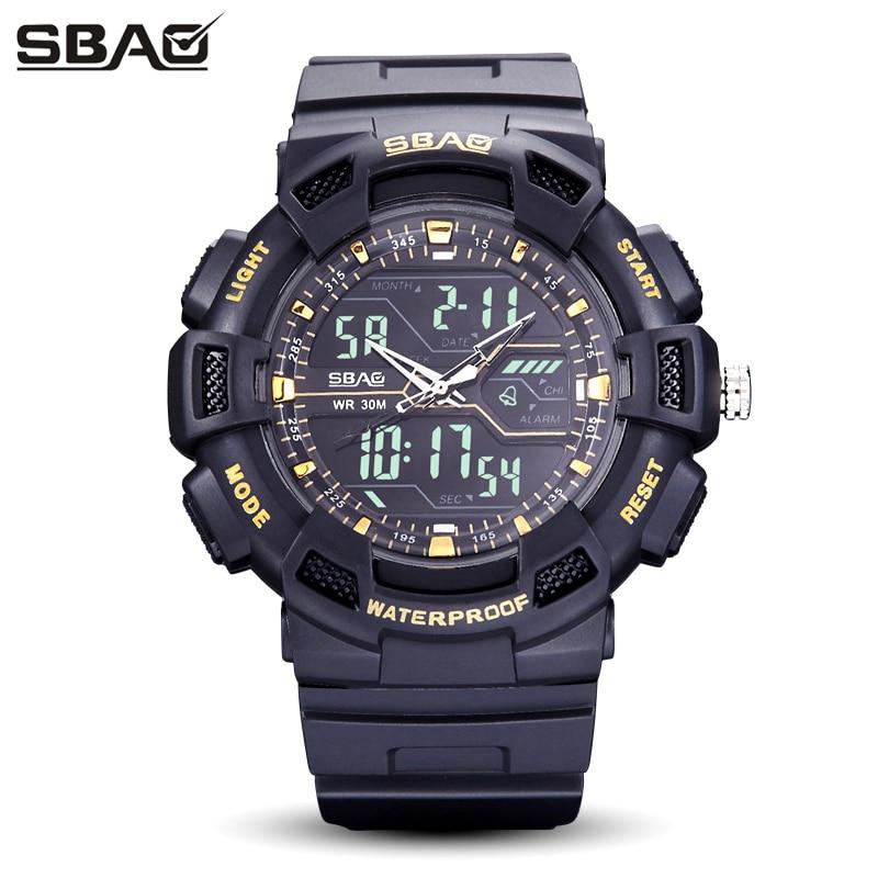 SBAO Brand Men Sport Watch LED Display Male Digital Wristwatch Week Calendar Swim 30M Waterproof Masculino Back Light Alarm цена и фото