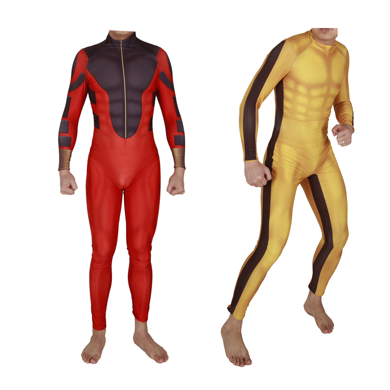 Adult Shang-Chi Master Of Kung Fu Cosplay Costume Superhero For Man Bruce Lee Suit Halloween Men