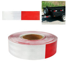 Reflective Tape Roll Red/White Trailer Reflector Caution Safety Warning Visibility Film Truck Car Adhesive Sticker(China)
