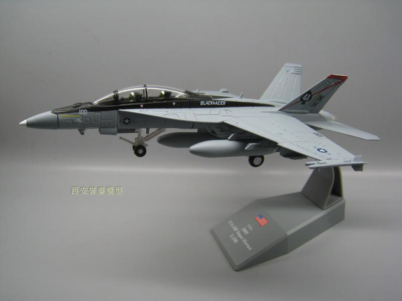 AMER 1/100 Scale Military Model Toys USN F/A-18F Super Hornet Fighter Diecast Metal Plane Model Toy For Collection/Gift