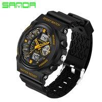 G Style 2016 New SANDA Luxury Brand Men Military Sports Watches Digital LED Quartz Wristwatches Rubber