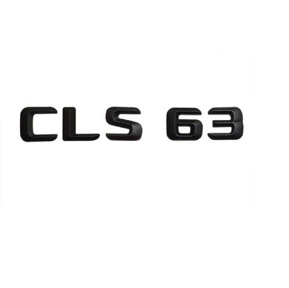 "Matt Black ""CLS 63"" Bagasi Mobil Belakang Huruf Kata Badge Emblem Huruf Stiker untuk Mercedes Benz AMG CLS Kelas CLS63 AMG"