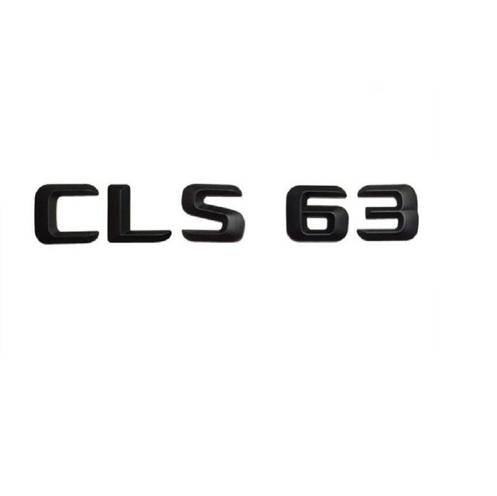 Matt Black  CLS 63 Car Trunk Rear Letters Word Badge Emblem Letter Decal Sticker for Mercedes Benz AMG Class CLS63