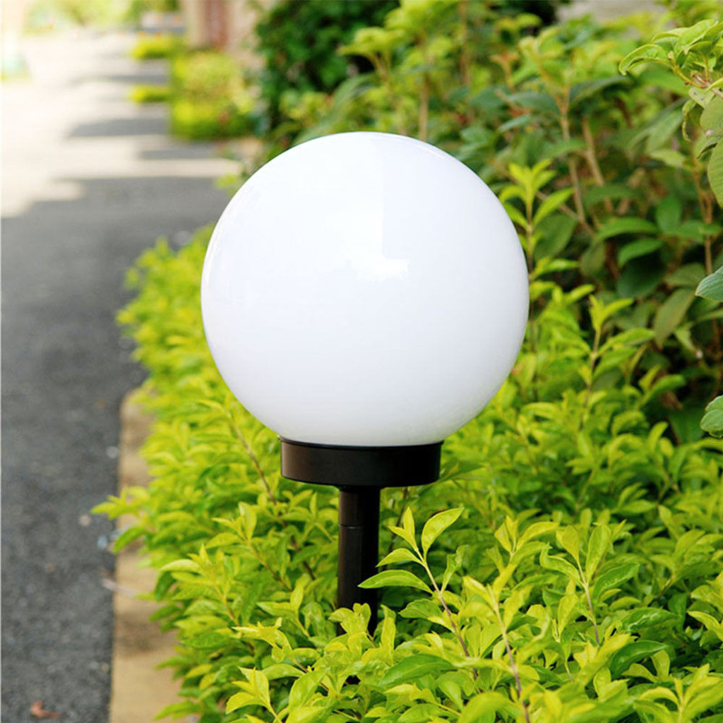 2019 LED Solar Power Outdoor Garden Path Yard Ball Light Lamp Lawn Road Patio Garden Courtyard Lawn Road Ground Light New#20