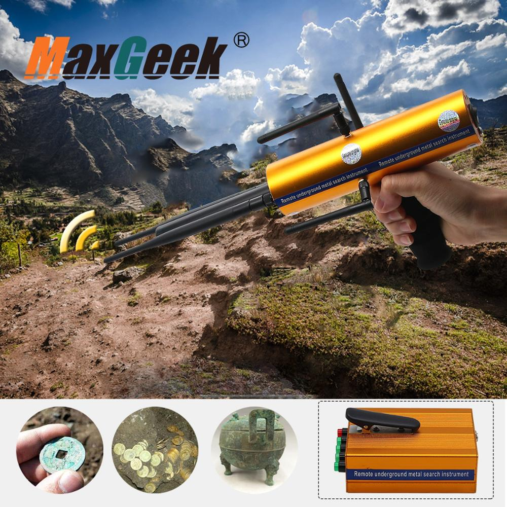 AKS Long Range Gold Metal Detector Gems Diamond Finder high sensitivity and stability with Five Antennas Handheld Type