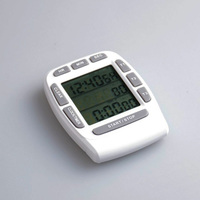 LCD Alarm Clock Kitchen Timer Three Channel Kitchen Timer Cooking To Remind The Multi Function Timer