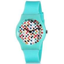 Willis Para Mini Lindo Casual Mujer Relojes Redondos del Dial Analógico Reloj de pulsera Con Correa de Silicona Reloj de Señoras 0450