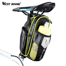 0a441d1bb WEST ciclismo bicicleta impermeable bolso con bolsillo para la botella de  agua asiento de bicicleta MTB bicicleta de ciclismo ac.