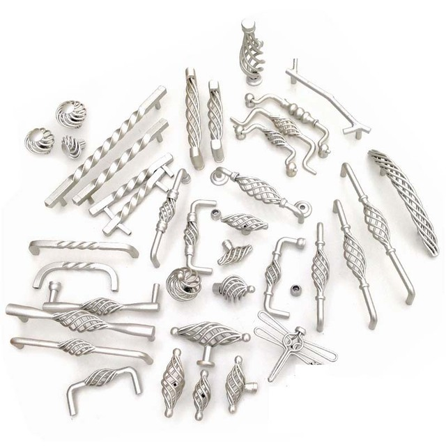 Champagne Silver Birdcage Knobs And Pulls Decorative Drawer Dresser Cabinet  Hardware Knobs Handle Pulls