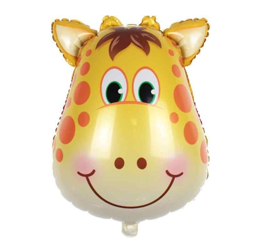 Mini 1 pcs Zoológicos leão tigre zebra balão macaco do bebê chuveiro decoração fontes do casamento balão de festa de aniversário das crianças brinquedos