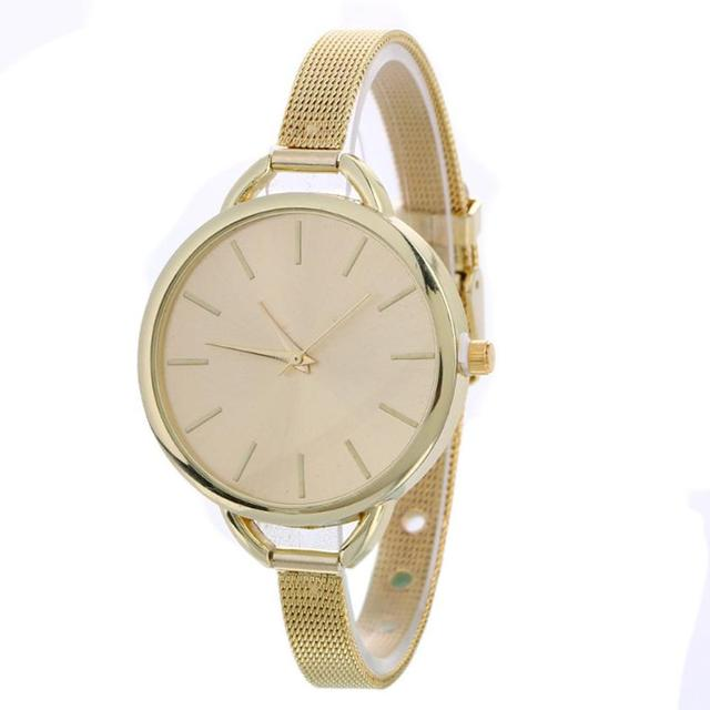 susenstone bracelet watches women fashion watch 2018 Quartz Stainless Steel Mesh