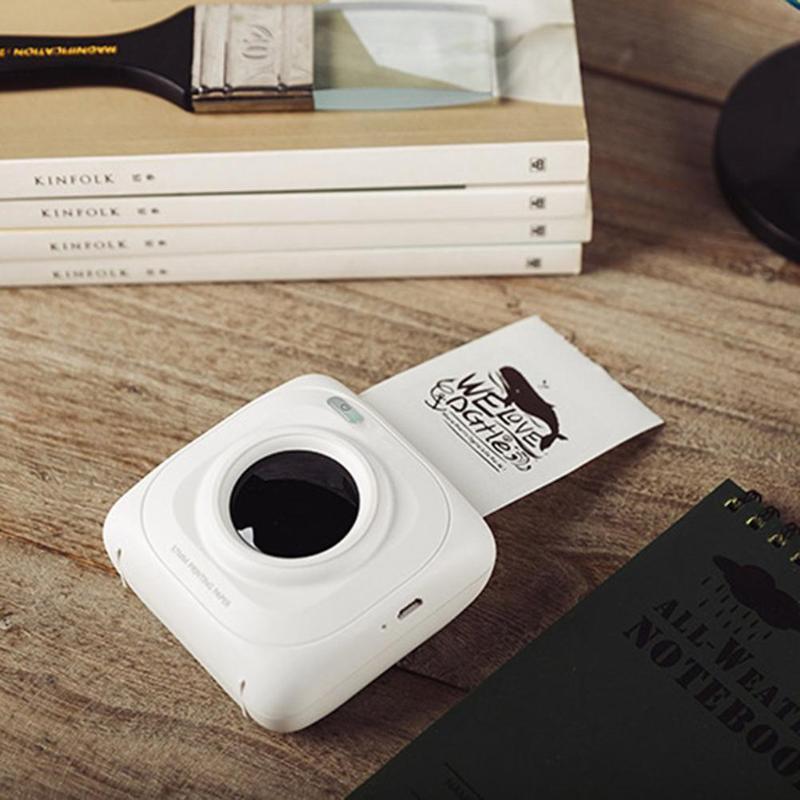 Imprimante Portable Bluetooth 4.0 POS imprimante Photo thermique téléphone connexion sans fil imprimante 1000 mAh Lithium-ion pâte - 2