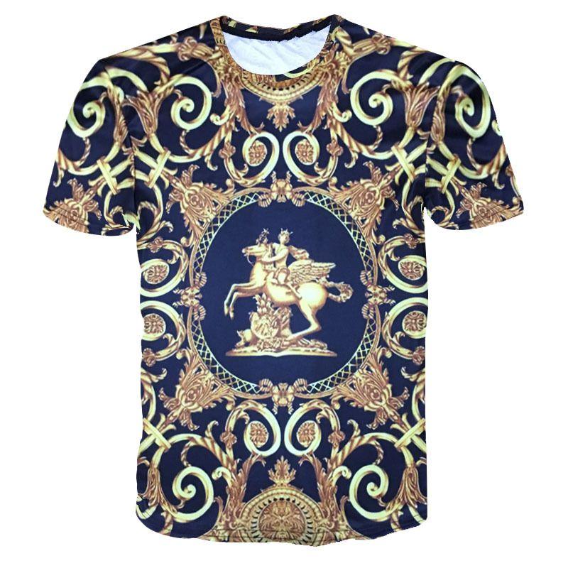 Mode Baroqu T shirt Homme 2018 nouveau luxe