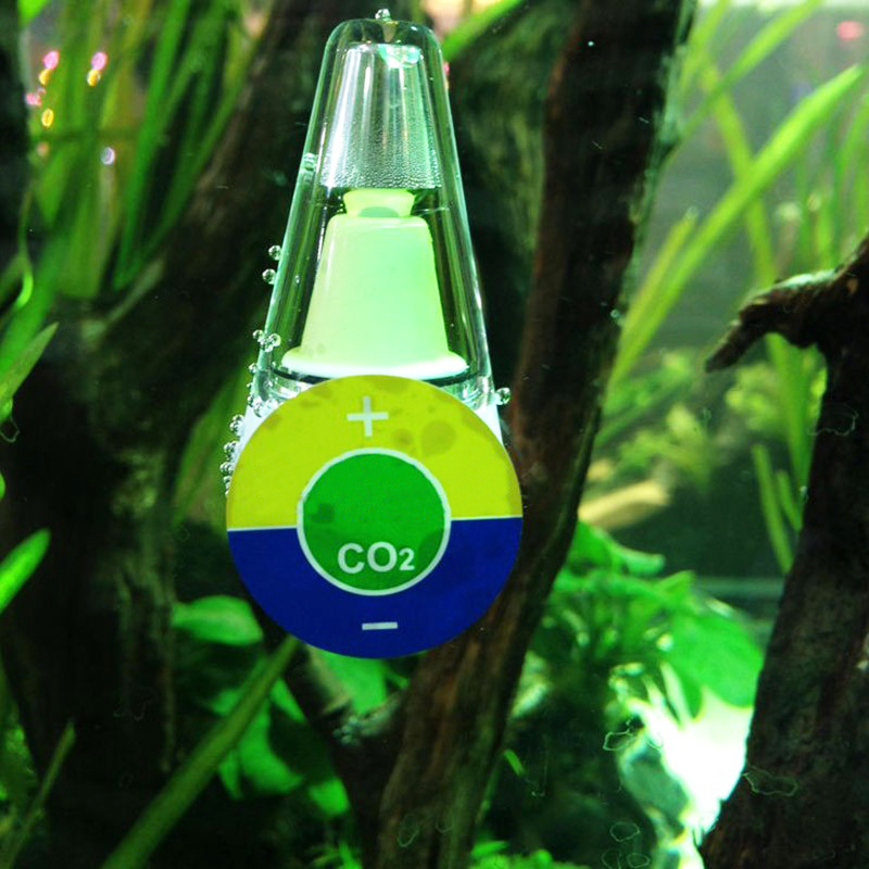 Aquarium portable co2 indicator solution co2 diffuser for for Co2 fish tank