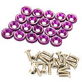 20 PCS PURPLE BILLET ALUMINUM FENDER/BUMPER WASHER/BOLT ENGINE BAY DRESS UP KIT
