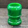 DScosmetic Jade grün harz rasierpinsel griff fit für 24mm/26mm dachs haar knoten pinsel DIY barber rasur werkzeug-in Rasierpinsel aus Haar & Kosmetik bei