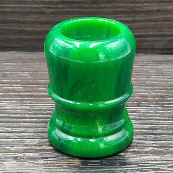 Dsbeauty اليشم الأخضر الراتنج الحلاقة مقبض فرشاة صالح لل 24 مللي متر/26 مللي متر الغرير عقدة الشعر فرشاة DIY بها بنفسك الحلاقة الحلاقة أداة
