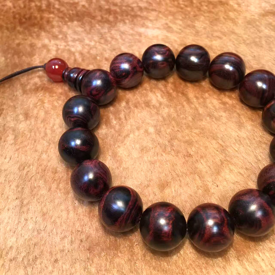 Well-known 14.5mm Authentic Natural China Hainan huanghuali bead bracelet for  JG83