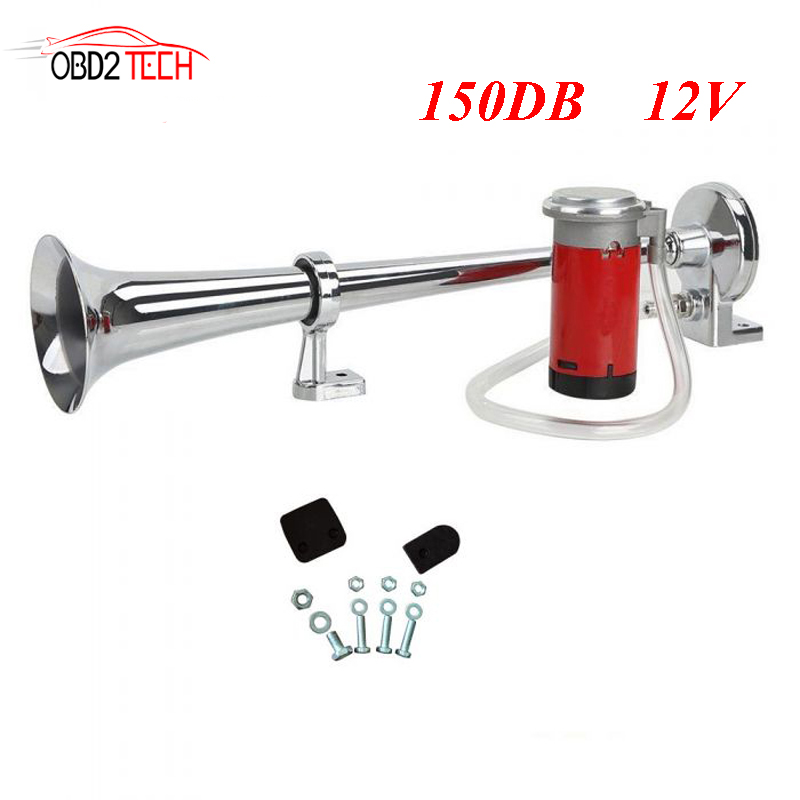 17inch 150DB Super Loud Single Trumpet Air Horn Compressor for Car Truck Lorry Boat Train Motorcycle